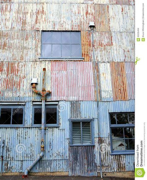 painting workshop buildings corrugated steel industrial building stock photo