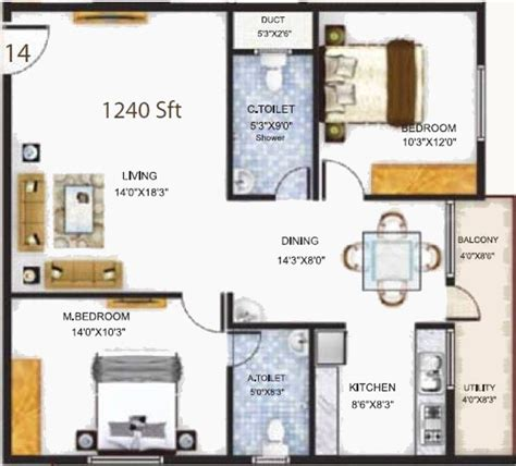 serenity floor plan 1240 sq ft 2 bhk 2t apartment for sale in baldota group serenity hosa road bangalore