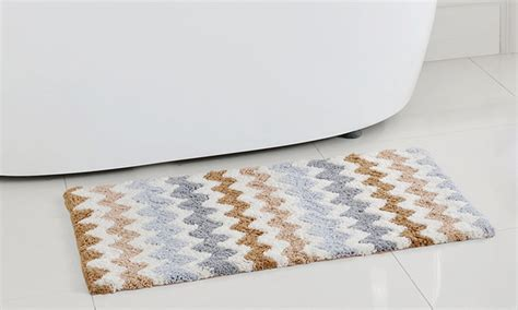 chevron bath rugs chevron cotton bath rugs groupon goods