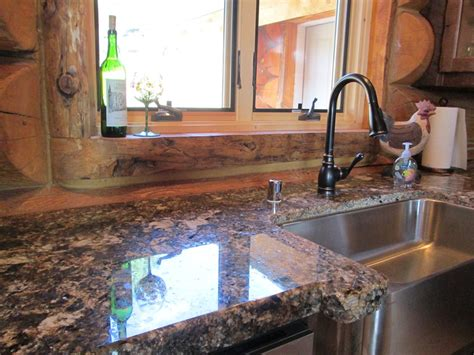 Unpolished Granite Countertops by The Modern Day Log Cabin Sheri Martin Interiors