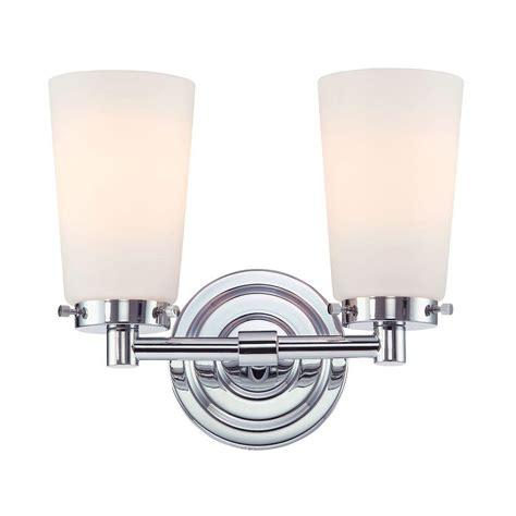 chrome vanity lighting bathroom lighting the home depot lights and ls 2 light chrome and white opal glass vanity light tn 92458 the home depot