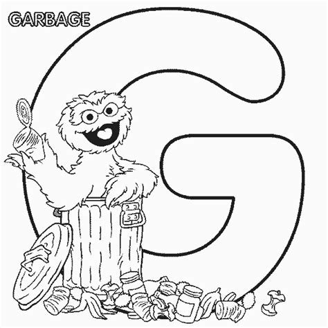 sesame street coloring pages alphabet g coloringstar