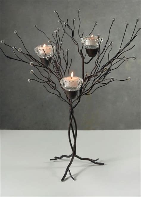centerpiece 16 quot tabletop metal twig tree candle holder