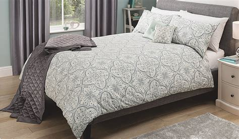 Asda Bedding Sets Sale George Home Grey Tile Damask Duvet Set Bedding George