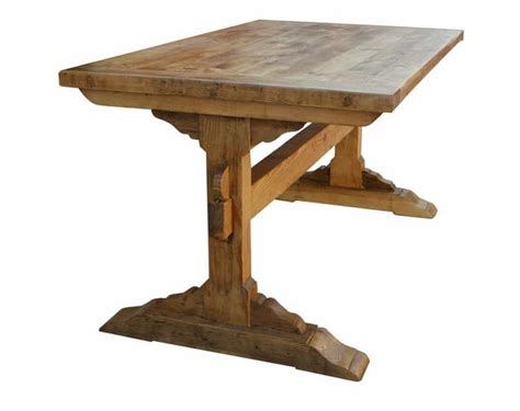 Non Wood Dining Table Santa Barbara Dining Trestle Table Built In Reclaimed