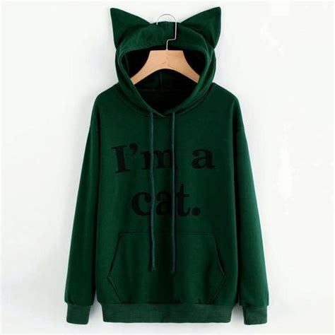 Cat Hoodie i m a cat cat ear hoodie sweatshirt speak