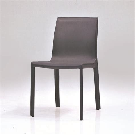 mobital fleur leather dining chair in gray dch fleu grey