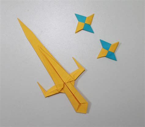 Shuriken Origami - sword 2 origami sai and shuriken