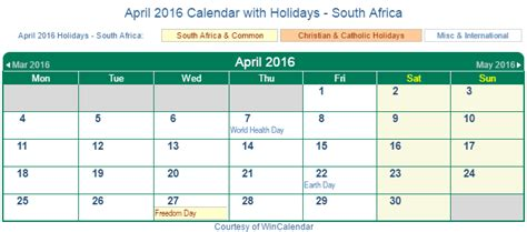 printable calendar 2016 south africa print friendly april 2016 south africa calendar for printing