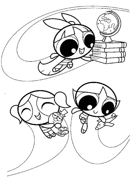 Powerpuff Girls Color Coloring Home Coloring Pages Of Power Puff Printable