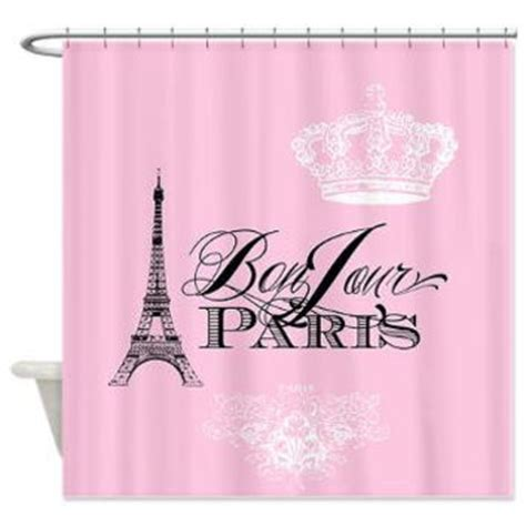 pink paris shower curtain best french crown products on wanelo