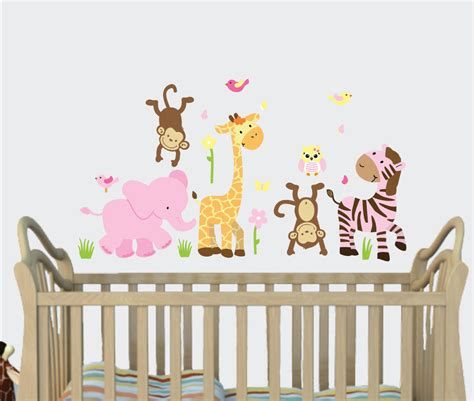 Jungle Nursery Decor Jungle Animal Decals Jungle Decal Room Decor Nursery Monkey Ebay