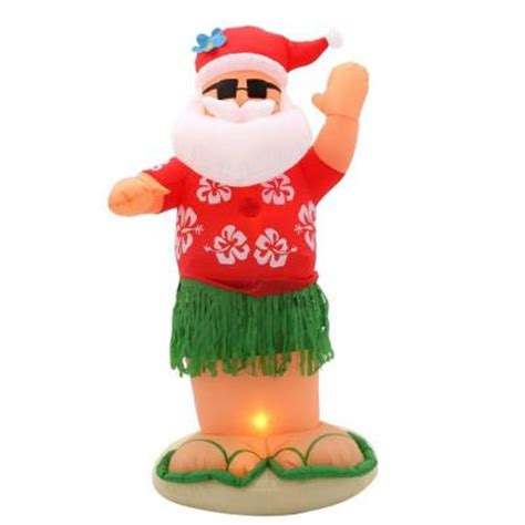 home depot inflatable christmas decorations home accents holiday 6 ft inflatable animated santa