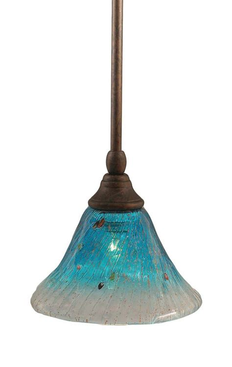 Teal Glass Pendant Light Filament Design Concord 1 Light Ceiling Bronze Incandescent Pendant With A Teal Glass