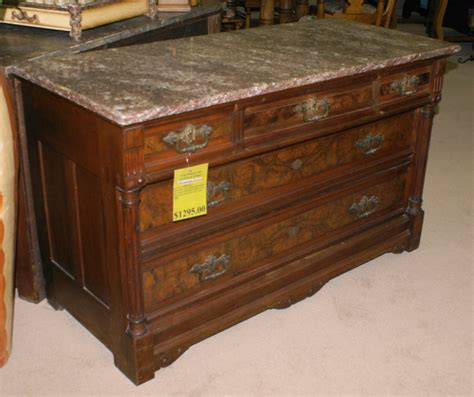 Marble Top Antique Dresser by Marble Top Eastlake Walnut Dresser For Sale Antiques
