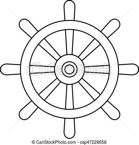 dessin roue bateau bois roue bateau contour ic 244 ne roue style contour
