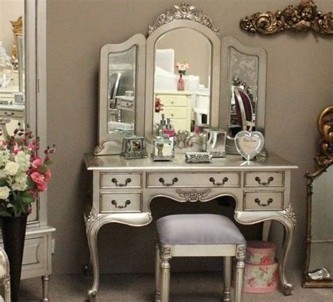 silver bedroom vanity silver leaf dressing tables transitional kids bedroom vanities other metro by