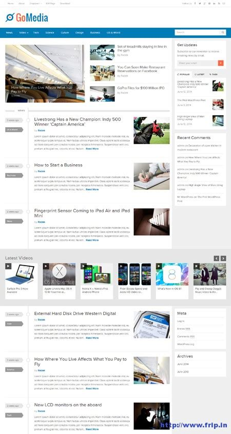 gomedia themes junkie gomedia wordpress theme another better option for online