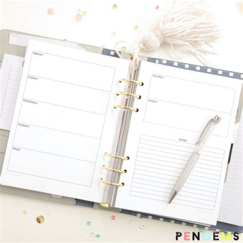 free printable planner 2016 a5 2016 free a5 printable planner inserts pinterest