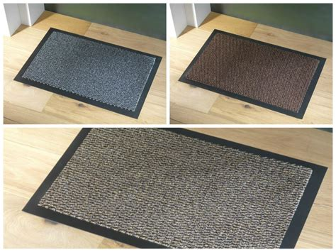 Rubber Backed Door Mats Faro Non Slip Heavy Duty Floor Door Mat Runner Rubber