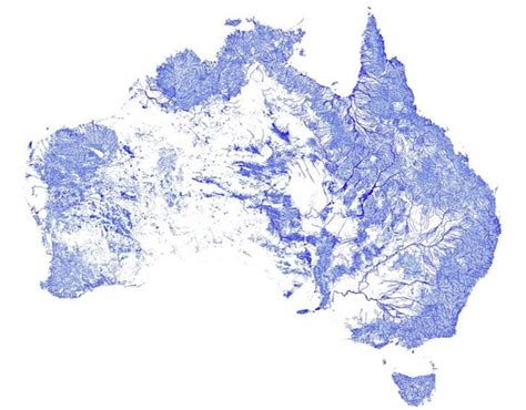 world map of rivers and streams every one of australia s 1 3 million rivers and streams