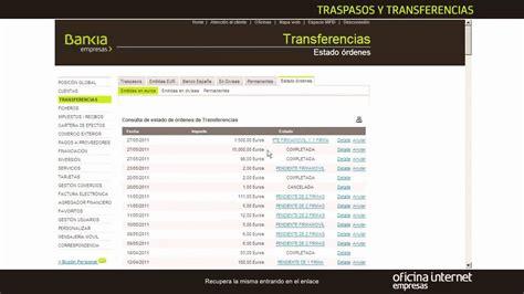 oficina bankia online bankia empresas traspasos y transferencias youtube
