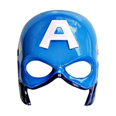 Mainan Topeng Captain America Lu Terbatas jual tme topeng captain america lu biru harga kualitas terjamin blibli