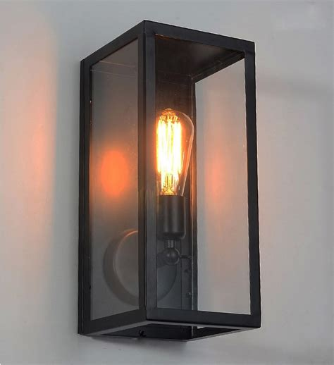 Landscape Lighting Glass Cover Wall Sconce Clear Class Cover Outdoor Wall Light Metal