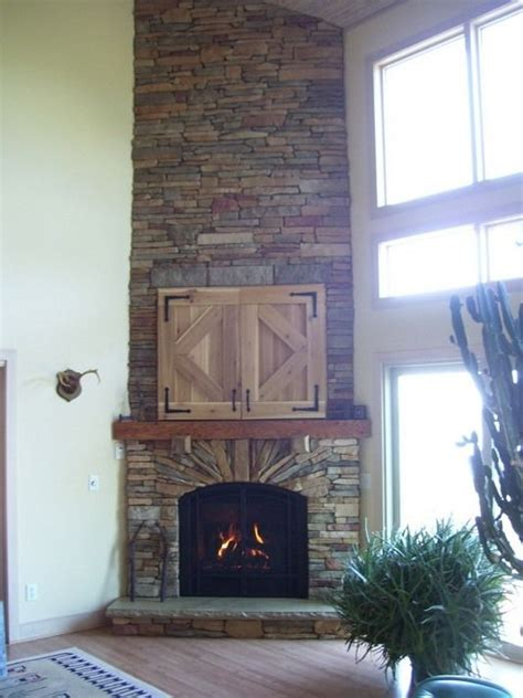 stone corner fireplace pin by holly evans on for the home pinterest
