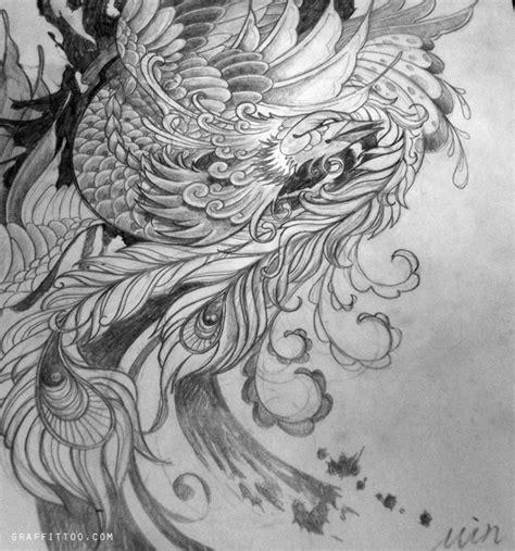 tattoo japanese sketch 타투그룹 gt 타투디자인 gt 봉황 타투 디자인 phoenix tattoos pinterest