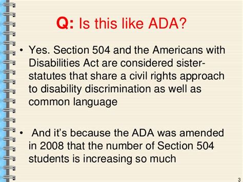 americans with disabilities act section 504 504 basics presentation