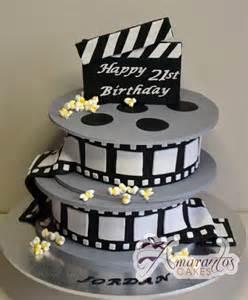 two tier film reel cake nc333 amarantos cakes