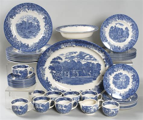 blue pattern dinnerware sets romantic england by wedgwood at replacements ltd