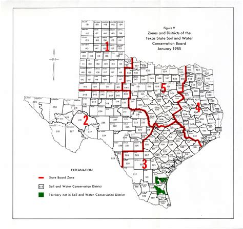 texas water districts map numbered report 294 texas water development board