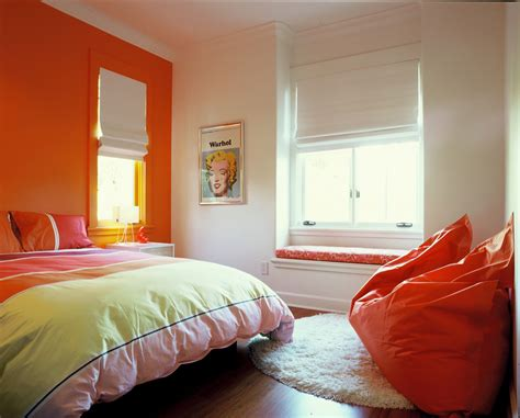 interior design for a teenage girl bedroom 24 orange bedroom designs decorating ideas design