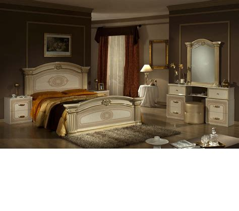italian bedroom furniture sets dreamfurniture com opera italian classic beige gold