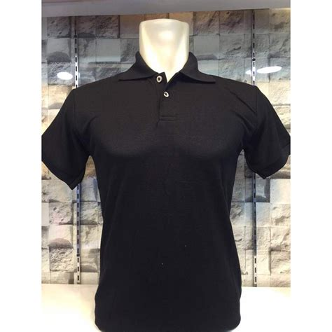 Polo Shirt Pria Polos Pendek Hitam kaos polo shirt polos kaus kerah unisex baju lengan pendek