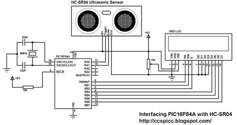 hc sr04 ultrasonic distance sensor code pic16f84a with hc sr04 ultrasonic sensor exle