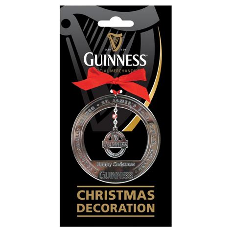 guinness christmas label decoration