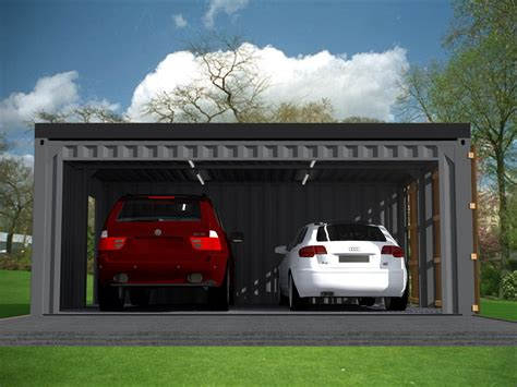 garage pour voiture garage carport 2 voitures en containers
