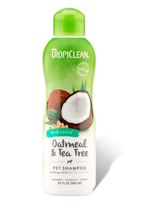tea tree for dogs oatmeal tea tree medicated shoo tropiclean pet products for dogs and cats
