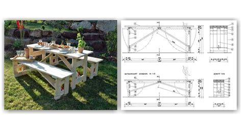 folding picnic table bench plans folding picnic table plans woodarchivist