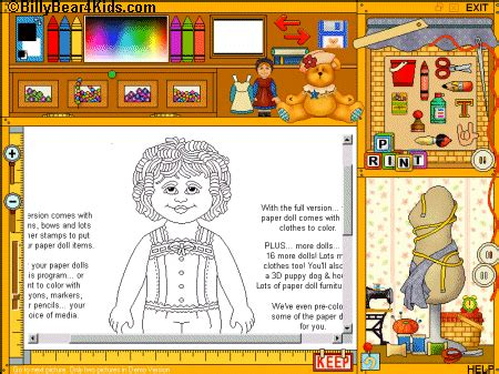 design doll software crayon box drawing