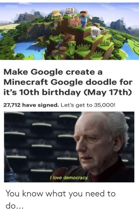 google create  minecraft google doodle