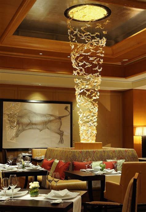 Chandelier Restaurant Dubai Lasvit Lighting The Ritz Carlton Dubai International Financial Centre La La Lighting