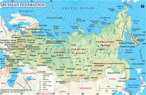 maps russia political map of russia