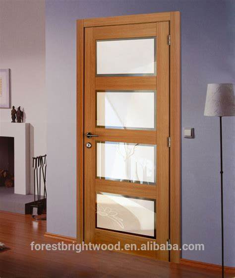 4 Panel Shaker Beveled Glass Interior Doors Wood Beveled Interior Wooden Doors With Glass Panels