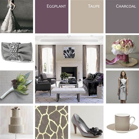 bedroom designs modern color scheme ideas black eggplant taupe grey yes oh yes