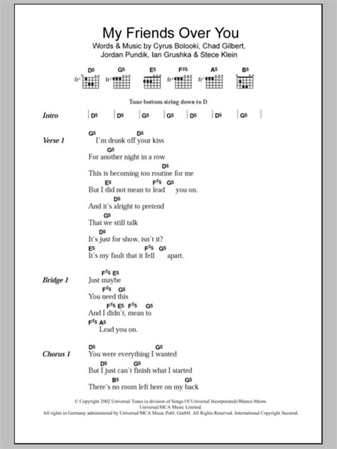 Over You Guitar Chords