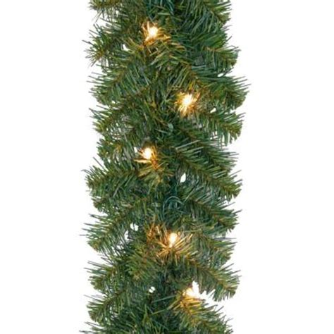 home accents holiday 20 ft noble fir artificial garland